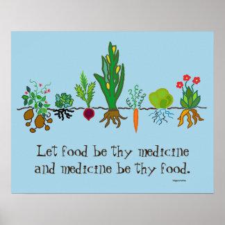 comida como medicina póster