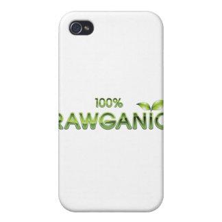 Comida cruda 100% de Rawganic iPhone 4 Cobertura