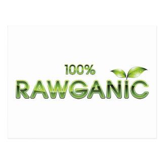 Comida cruda 100% de Rawganic Tarjeta Postal