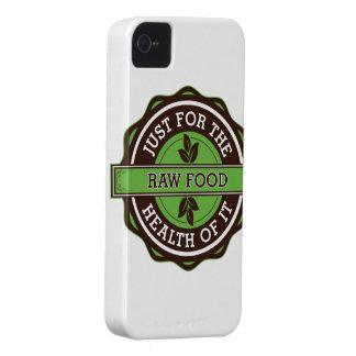 Comida cruda apenas para la salud de ella Case-Mate iPhone 4 cárcasas