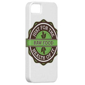 Comida cruda apenas para la salud de ella iPhone 5 Case-Mate carcasa