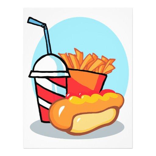 comida de alimentos de preparación rápida del dibu tarjetas publicitarias