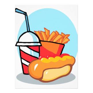 comida de alimentos de preparación rápida del dibu anuncio