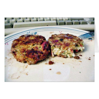 Comida de Crabcakes Felicitacion