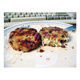 Comida de Crabcakes Postales
