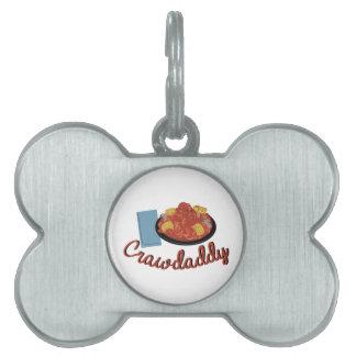 Comida de Crawdaddy Placa De Mascota