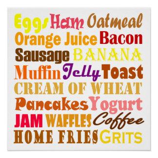 Comida de desayuno perfect poster