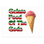 Comida de Gelato de dioses Tarjetas Postales