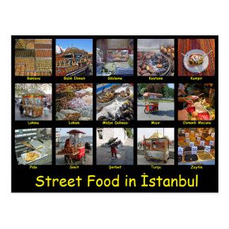 Comida de la calle en Estambul Postales