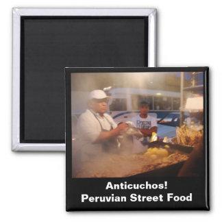 Comida de la calle en Perú - Anticuchos Imán Para Frigorífico
