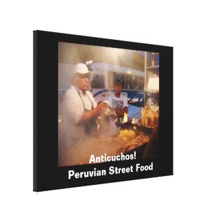 Comida de la calle en Perú - Anticuchos Impresiones En Lienzo Estiradas