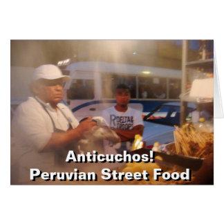 Comida de la calle en Perú - Anticuchos Tarjeta De Felicitación