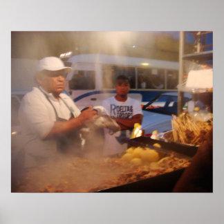Comida de la calle en Perú - Anticuchuos Impresiones