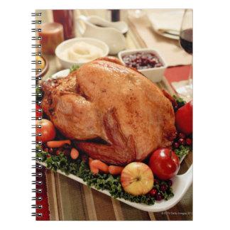 Comida de la cena de Turquía Libros De Apuntes Con Espiral