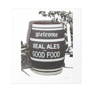 Comida de la cerveza inglesa real del barril de libretas para notas