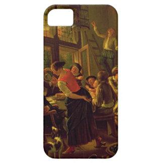 Comida de la familia (aceite en lona) iPhone 5 carcasas