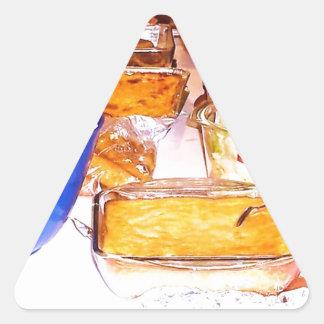 comida de la imagen de lynnfood.JPG para la cocina Pegatina Triangular
