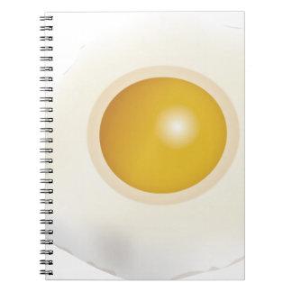 Comida de la mañana del huevo frito de Wellcoda Libro De Apuntes