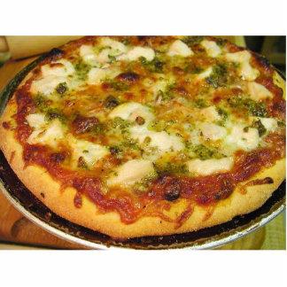 Comida de las pizzas que cocina el pollo fotoescultura vertical
