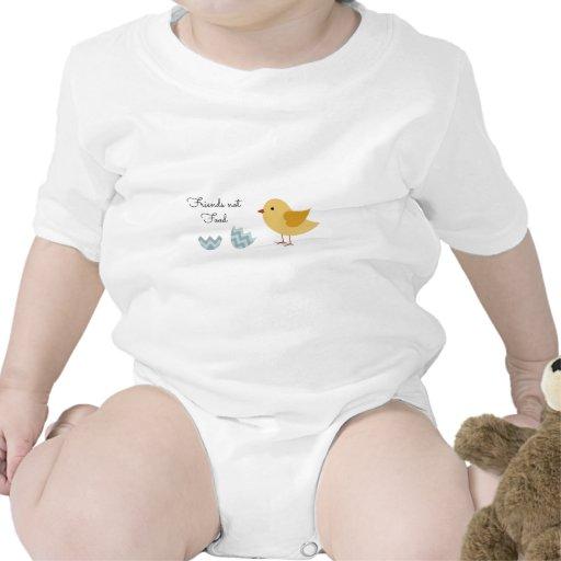 Comida de los amigos del polluelo del vegano no traje de bebé