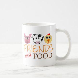 Comida de los amigos no taza de café