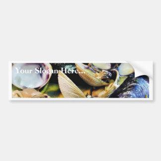 Comida de los crustáceos de los músculos de las al pegatina para auto
