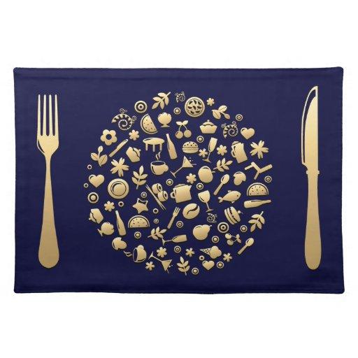Comida de oro #5 mantel individual