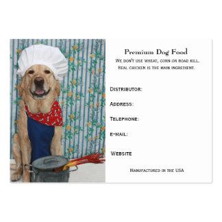 Comida de perro superior tarjetas de visita