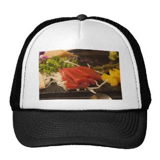 Comida de pescados del tiempo del fiesta del atún gorras