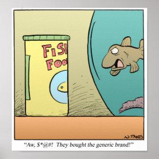 Comida de pescados genérica poster