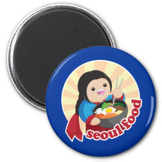 Comida de Seul Imán Redondo 5 Cm