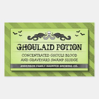 Comida del fiesta de Halloween o etiqueta verde y