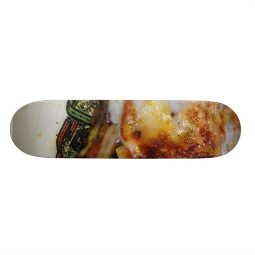 Comida del Lasagna Tabla De Skate