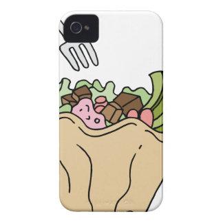 Comida del mexicano de la ensalada del Tostada iPhone 4 Case-Mate Funda
