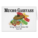 Comida del mexicano de Mucho Gassyass Felicitación