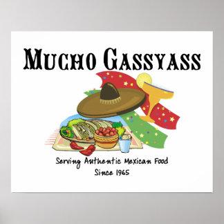 Comida del mexicano de Mucho Gassyass Póster