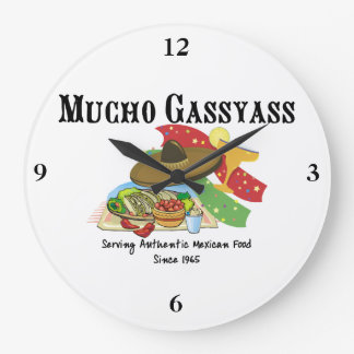 Comida del mexicano de Mucho Gassyass Reloj Redondo Grande