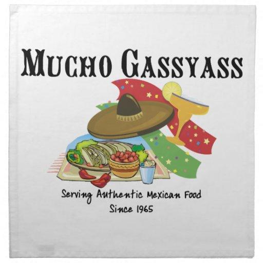 Comida del mexicano de Mucho Gassyass Servilletas Imprimidas