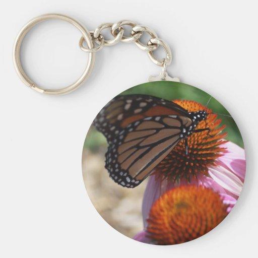 Comida del monarca llaveros personalizados