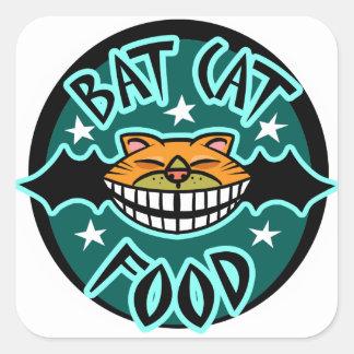 Comida del palo del gato colcomanias cuadradas