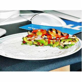 Comida del pollo de los Fajitas que cocina las ceb Fotoescultura Vertical
