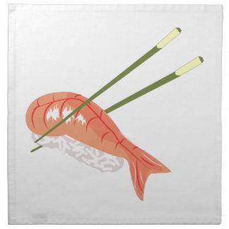 Comida del sushi servilleta de papel