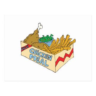 comida del valor del pollo en una caja postal