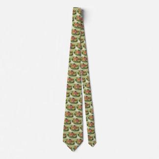 Comida del vintage, ensalada verde mezclada corbatas
