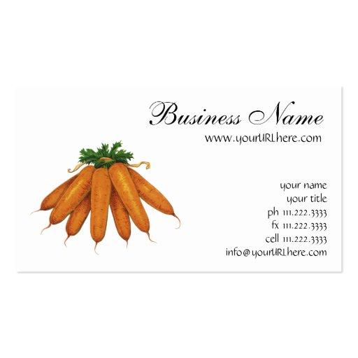 Comida del vintage, verduras; Manojo de zanahorias Tarjetas De Visita
