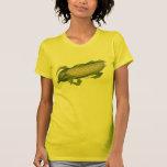 Comida del vintage, verduras sanas, maíz en la t-shirt