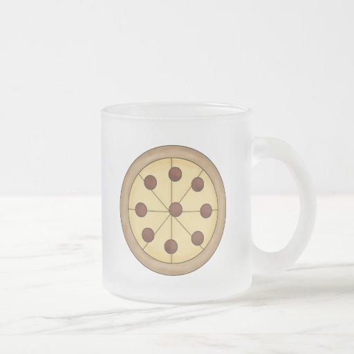 Comida deliciosa italiana de la empanada de pizza taza de cristal