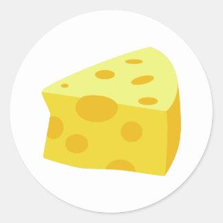 Comida deliciosa - queso pegatina redonda