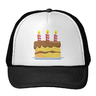 Comida deliciosa - torta de cumpleaños gorras de camionero