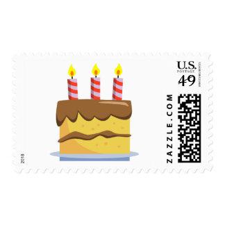 Comida deliciosa - torta de cumpleaños sellos postales